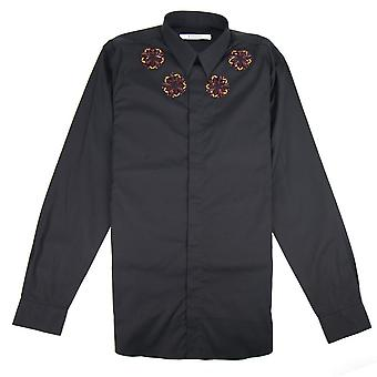 Givenchy Metallic Embroidered Shirt Black