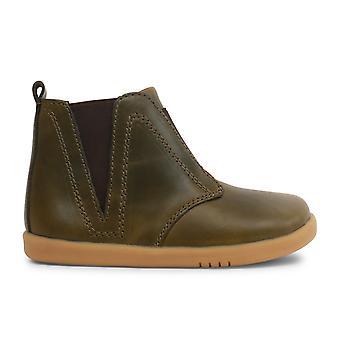Bobux I-walk Boys Signet Boots Olive Green