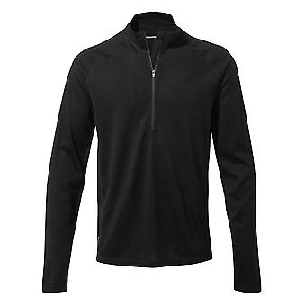 Craghoppers Mens Merino Half Zip Long Sleeve Base Layer Top