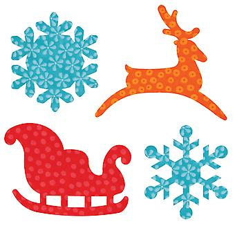 Go! Fabric Cutting Dies It Fits! Sleigh & Snowflakes 553 22