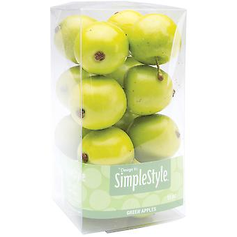Design Simple fruits décoratifs 15 Pkg Mini pomme verte Rs9801