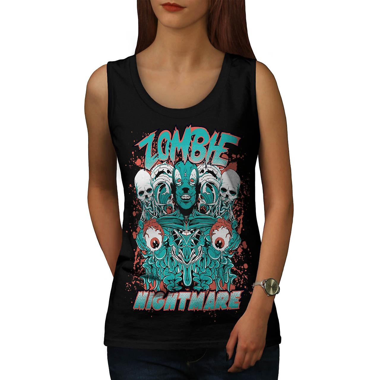 Dead Zombie Nightmare Evil Gang Women Black Tank Top | Wellcoda