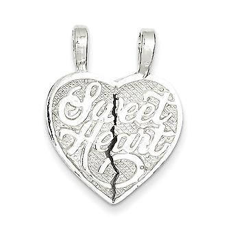 Charm in argento Sterling cuore dolce 2-Piece Break Apart cuore