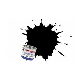 Humbrol Enamel Paint 14ML No 85 Coal Black - Satin