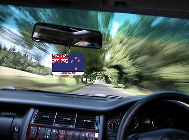 New Zealand Flag Personalised Car Air Freshener