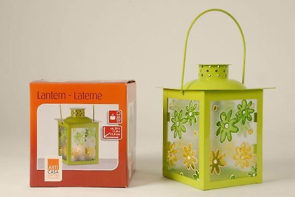 Flower Decorated Lantern Green For Garden Outdoor Decoration Light