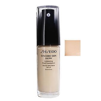 Shiseido sincro piel resplandor líquido Luminizing Fundación SPF20 neutro 1 1oz / 30ml