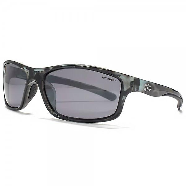 Animal Chased TR90 Wrap Sunglasses In Grey Tortoiseshell Polarised