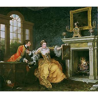 William Hogarth - The Lady's last stake Poster Print Giclee