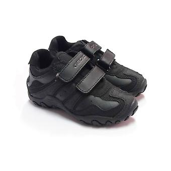 Geox Geox Crush Boys Black Trainer School Shoes