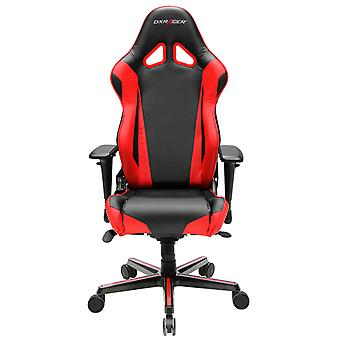 DX Racer DXRacer OH/RV001/NR High-Back Racing Style Office Chair Carbon Look Vinyl+PU(Black/Red)