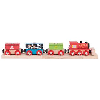 Bigjigs Rail Cereal Train - Other Major Wooden Rail Brands are Compatible