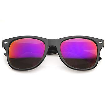 Flad mat reflekterende Revo farve linse store Horn kantede stil solbriller