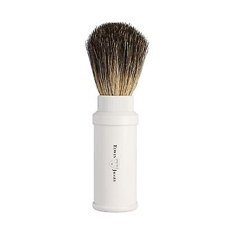 Edwin Jagger Pure Badger White Aluminium Travel Brush 81M538