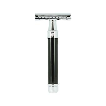 Edwin Jagger DE86-BL Double Edge Safety Razor Ebony