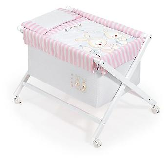 Interbaby White Model Bunny Baby Crib Rosa