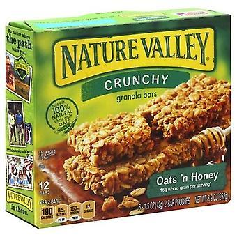 Natur Valley Crunchy havre 'N honning Granola barer 2 Box Pack
