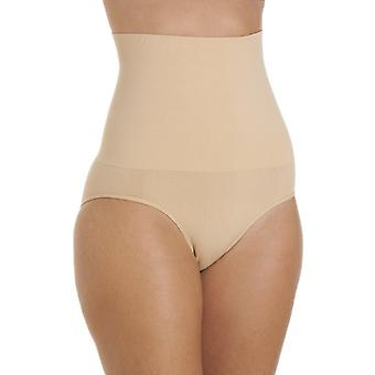 Camille Womens Seamfree Shapewear Comfort Hallo getailleerde controle kort Beige
