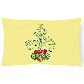 Weihnachtsbaum-Fleur de Lis Canvas Stoff Dekorative Kissen