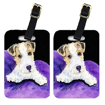 Carolines Treasures  SS8971BT Pair of 2 Fox Terrier Luggage Tags