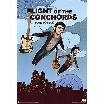 Flight of the Conchords - saison 2 - né à Folk affiche Poster Print