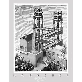Impresión de cartel cascada de M.C. Escher (20 x 28)