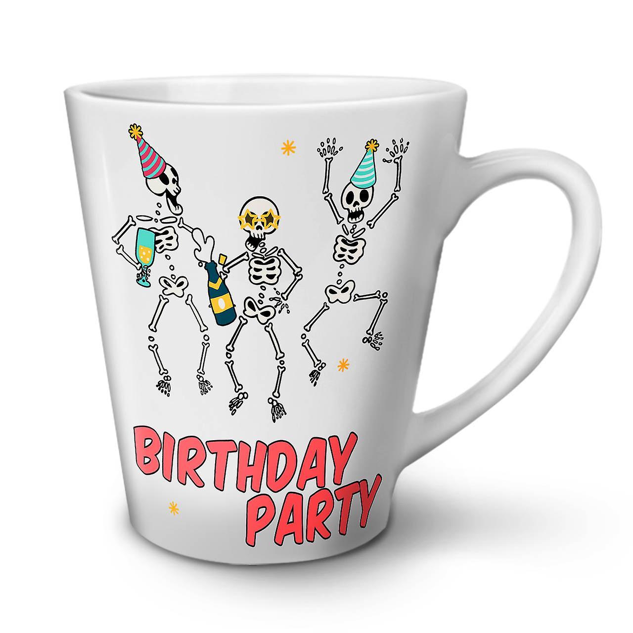 En Céramique Squelette OzWellcoda Nouvelle Café Tasse Heureuse Latte Blanche 12 XiwkZuOPT