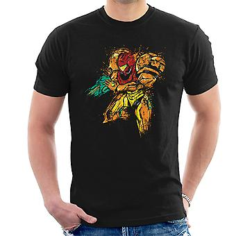 Metroid Galactic Bounty Hunter Splatter Men's T-Shirt
