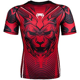 Venum Bloody Roar Dry Tech Short Sleeve MMA Rashguard - Red