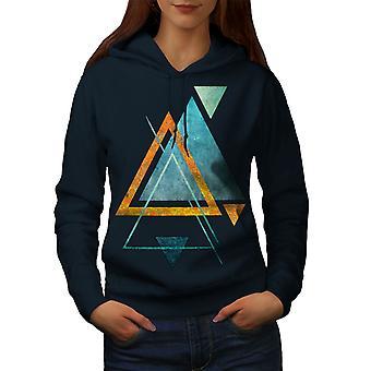 Abstrakte Dreieck Frauen NavyHoodie | Wellcoda