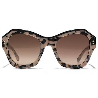 Stella McCartney Iconic Two Tone Geometric Sunglasses In Beige Havana