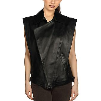 Ladies Molina Sleeveless Leather Jacket