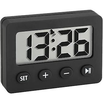 60-2014-01 Quartz Alarm clock Black