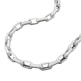 Necklace anchor chain rectangular links silver 925 42cm