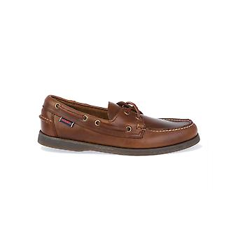 Sebago men's B72743BROWN brown leather moccasins