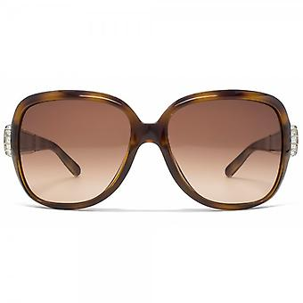 Chloe Calla Diamante Detail Sunglasses In Tortoise