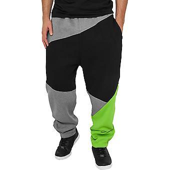 Urbains classics - gris de pantalons de survêtement ZIG ZAG / noir