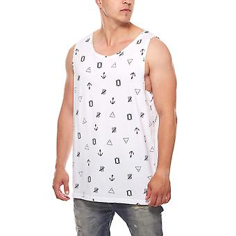 JUNK YARD Festival men's tank top White with All-Over print