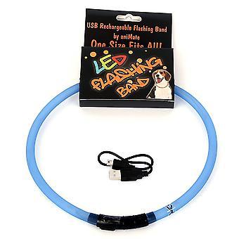 Animate Walking Mate LED Flashing Loop Dog Toy Blue 70cm
