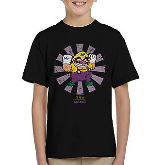 Wario Retro Japanese Super Mario Kid's T-Shirt