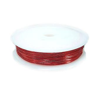 1 x Red Plated Copper 0.5mm x 8m Round Craft Wire Spool HA16870