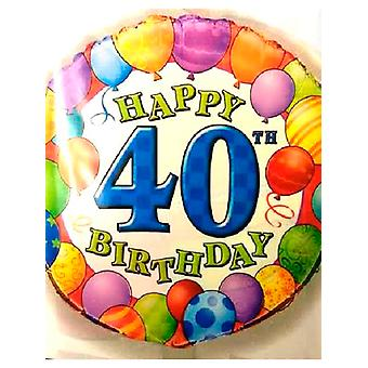 Happy 40th Birthday Balloon with Balloon Border