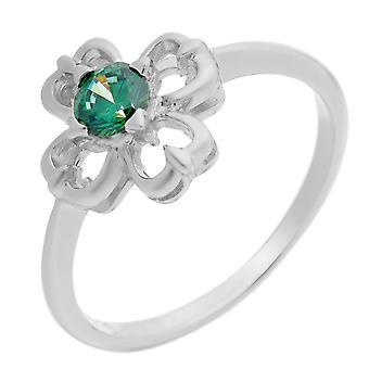 Orphelia plata 925 anillo flor circonio ZR-7081