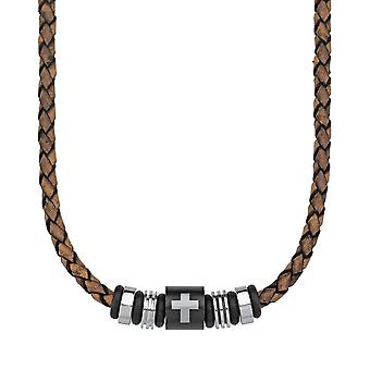 s.Oliver jewel men's leather chain stainless steel cross 2012637