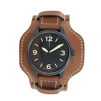 Aristo mens watch wristwatch automatic FT black Fliegeruhr 0 H 09 leather