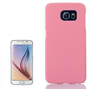 Hardcase Rubber Rosa Hülle für Samsung Galaxy S6 G920 G920F