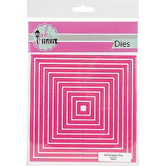 Pink & Main Dies-Stitched Squares 4