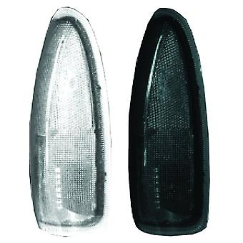 Recon 264120BK LED Side Mirror Lens 2003-2007 Ford F250/F350 Super Duty & Excursion (2 Piece Set) - Smoked Lens