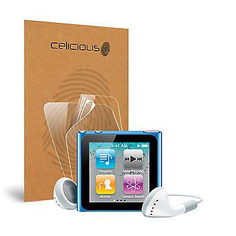 Celicious Vivid Invisible Glossy HD Screen Protector Film Compatible with Apple iPod Nano 6 [Pack of 2]