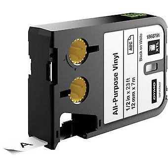 Labelling tape (multi-purpose vinyl) DYMO 1868751 XTL Tape colour: White Font colour:Black 12 mm 7 m